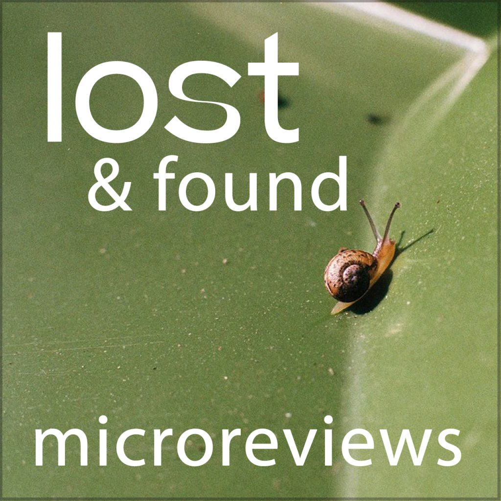 microreviews accepted. pictured: green leaf with snail